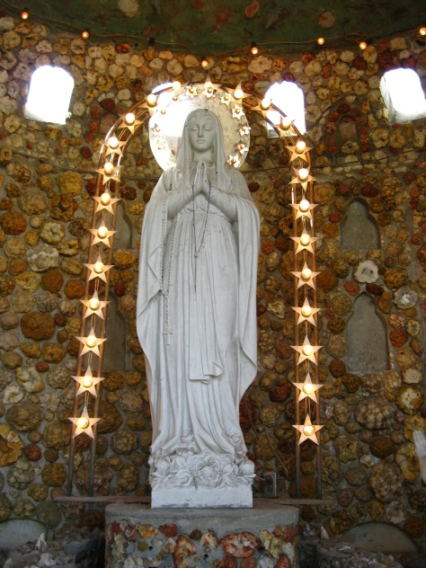 Mary in the Geode Grotto