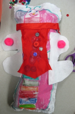 Pink Bug in a Dress -- Kindergartener