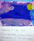 Monoprint with Haiku -- Elementary school