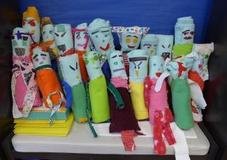 A collection of one class' sculptures