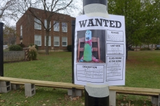 a closer view of the wanted poster